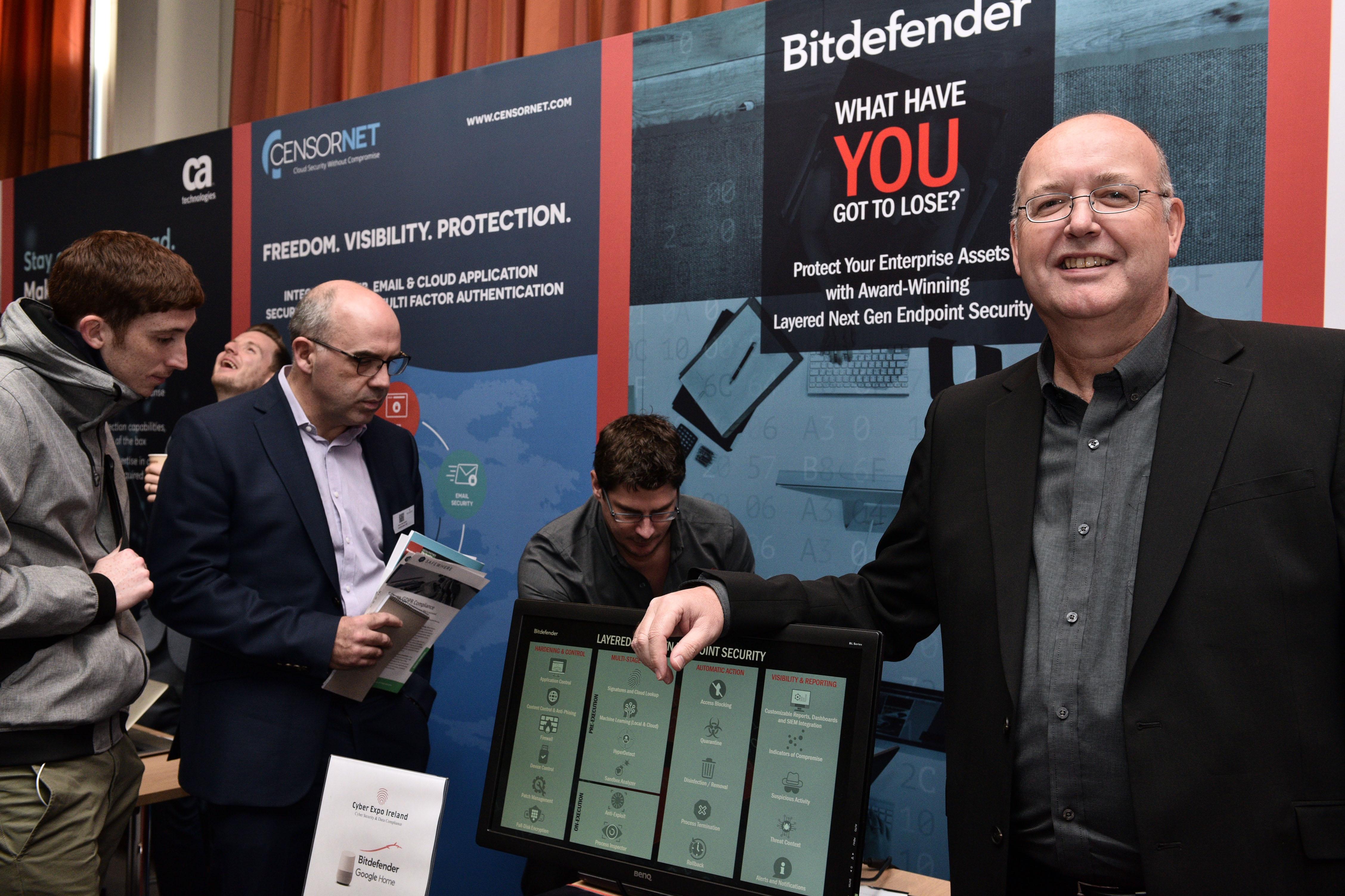 Cyber Expo Ireland. Jamie Pearce, Bitdefender.