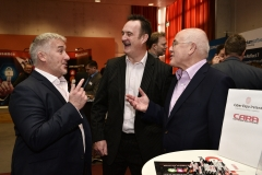 Cyber Expo Ireland. : Richard Finlay and Bertie Notley, Cara network Solutions and Michael Conway, Renaissance.
